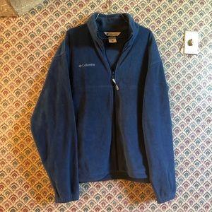 Columbia Fleece Full Zip Sweater in Colbalt Blue